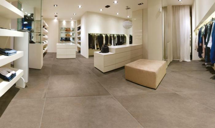Pavimenti effetto cemento arreda la casa e l 39 ufficio - Piastrelle da interno ...